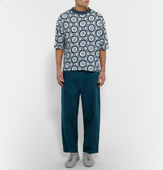 Sasquatchfabrix + Beams Wide-Leg Drawstring Cotton Trousers