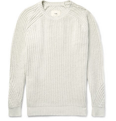 Folk Ribbed Cotton-Blend Sweater