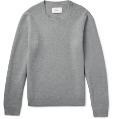 Folk - Textured Stretch-Cotton Sweater