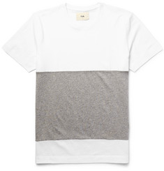 Folk - Panelled Cotton-Jersey T-Shirt