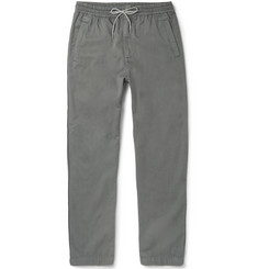 Folk - Tapered Drawstring Cotton Trousers