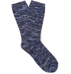 Folk Mélange Cotton-Blend Socks