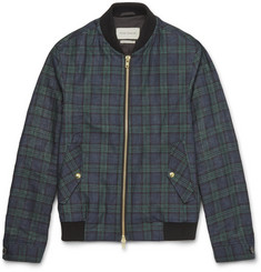 Oliver Spencer Checked Linen Bomber Jacket