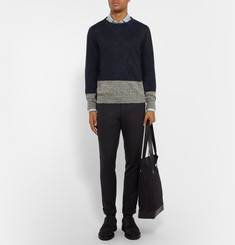 Oliver Spencer Stapleton Two-Tone Linen Sweater