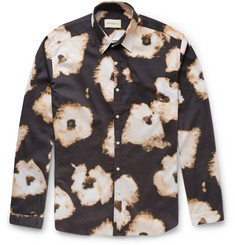 Oliver Spencer - New York Slim-Fit Printed Cotton-Blend Shirt