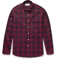 Oliver Spencer Wellington Slim-Fit Checked Cotton and Linen-Blend Shirt