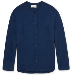 Oliver Spencer Tarifa Slim-Fit Basketweave Cotton Shirt