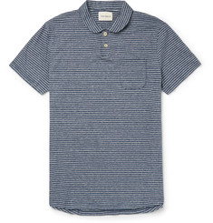 Oliver Spencer Harper Slim-Fit Penny-Collar Striped Cotton Polo Shirt