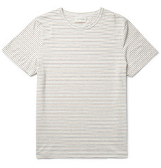 Oliver Spencer - Striped Knitted Cotton T-Shirt
