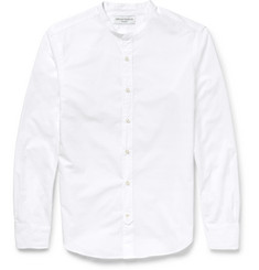Officine Generale Slim-Fit Grandad-Collar Cotton-Poplin Shirt