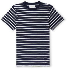 Officine Generale Slim-Fit Striped Knitted Cotton-Jersey T-Shirt