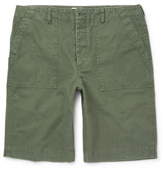 Officine Generale Brushed-Cotton Shorts
