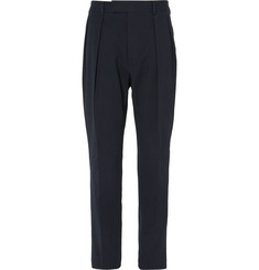 Officine Generale - Blue Cotton-Blend Seersucker Trousers