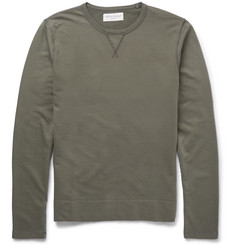 Officine Generale - Loopback Cotton-Jersey Sweatshirt