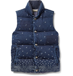 Remi Relief Bandana-Print Cotton Down Gilet