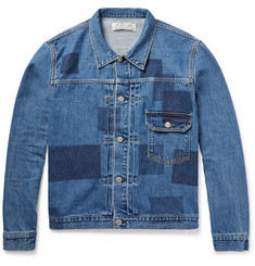 Remi Relief Patchwork-Effect Denim Jacket