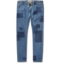 Remi Relief Slim-Fit Patchwork-Effect Denim Jeans