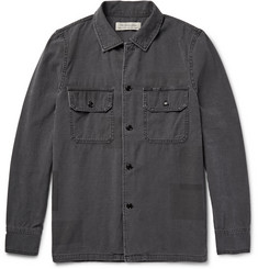 Remi Relief Patchwork-Effect Cotton Shirt Jacket