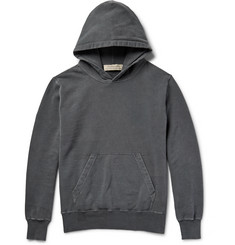 Remi Relief Distressed Loopback Cotton-Jersey Hoodie