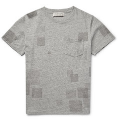 Remi Relief - Patchwork-Effect Mélange Cotton-Jersey T-Shirt