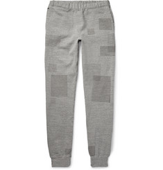 Remi Relief - Patchwork-Effect Loopback Cotton-Blend Jersey Sweatpants