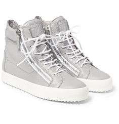 Giuseppe Zanotti - Leather High-Top Sneakers