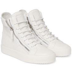 Giuseppe Zanotti - Grained-Leather High-Top Sneakers