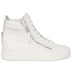Giuseppe Zanotti Grained-Leather High-Top Sneakers