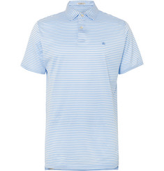 Peter Millar Classic Striped Cotton-Lisle Polo Shirt