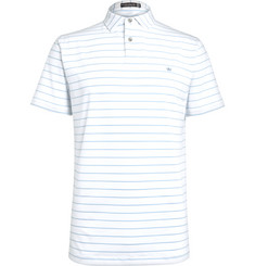 Peter Millar Quarter Striped Stretch-Jersey Polo Shirt