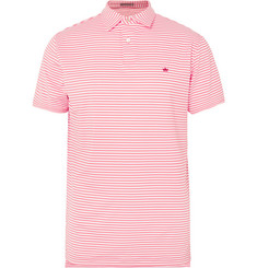 Peter Millar Competition Striped Stretch-Piqué Polo Shirt