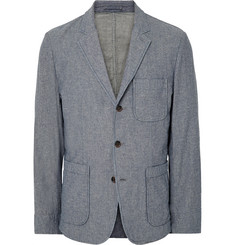 Alex Mill - Blue Double-Faced Cotton-Chambray Blazer