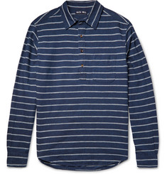 Alex Mill Half-Placket Striped Linen and Cotton-Blend Shirt