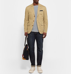 Alex Mill Sand Unstructured Cotton-Twill Blazer