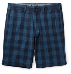 Alex Mill Buffalo-Checked Linen and Cotton-Blend Shorts