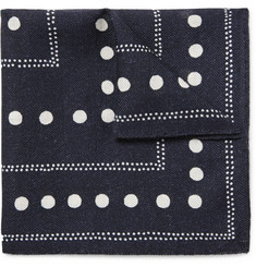 Alex Mill Dot-Print Wool-Twill Pocket Square