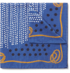 Alex Mill Printed Cotton Pocket Square