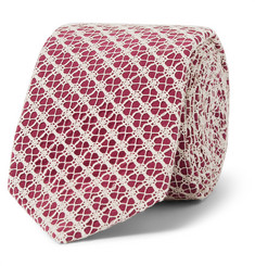 Marwood Cotton Lace-Covered Silk Tie