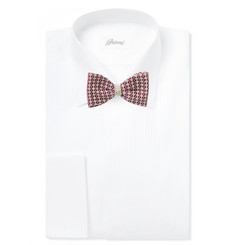 Marwood Cotton-Lace Overlaid Silk Bow Tie