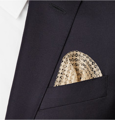Marwood Cotton-Lace Pocket Square