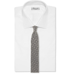 Marwood Cotton-Lace Overlaid Silk Tie