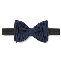 Marwood - Cotton-Mesh Bow Tie
