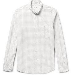 Steven Alan Button-Down Collar Checked Cotton-Poplin Shirt
