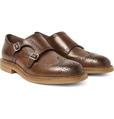 Brunello Cucinelli - Leather Monk-Strap Wingtip Brogues