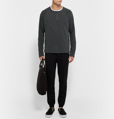 James Perse - Loopback Cotton-Jersey Henley Sweatshirt