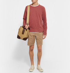 James Perse Garment-Dyed Loopback Supima Cotton-Jersey Sweatshirt