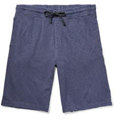 James Perse Garment-Dyed Loopback Supima Cotton-Jersey Shorts