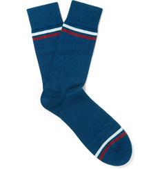 John Smedley - Kai Striped Sea Island Cotton-Blend Socks