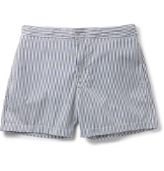 Officine Generale - Roman Mid-Length Striped Poplin Swim Shorts