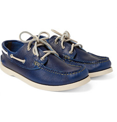 Yuketen - Pebble-Grain Leather Boat Shoes